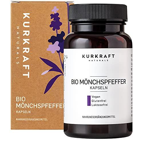 Kurkraft Mönchspfeffer Extrakt (180 Kapseln) - Original Vitex Agnus Castus - 10mg Extrakt je Kapsel - Vegan - Sorgfältig hergestellt in Deutschland