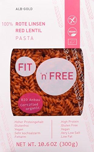 FIT \'n\' FREE Bio Rote Linsen Fusilli, 1 Pack (1 x 300 g)