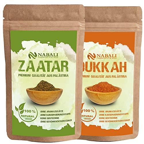 Zatar/Zaatar nach Ottoneghi & Dukkah Qualitätsware aus Palästina je 100 g - 100 {14a8b976175927d1f2b4c5728104595aadef31876b56081057bf3234b7c7db2e} naturell