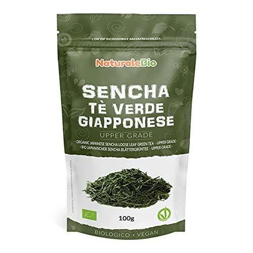 Japanischer Grüner Tee Sencha Bio [Upper grade] 100g | 100{010a5ce778f369af3f322ac6b3928e1973408978eb38262d8b554a4bd774de7b} natürlicher, reiner grüner Tee lose in Blättern der ersten Ernte, die in Japan angebaut werden | Pure Organic Japanese Sencha Green Tea