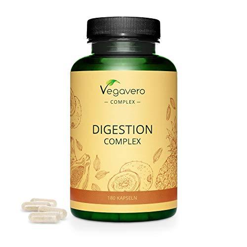 VEGAVERO® Papain Komplex | 100{23333371614edda2c665c25b19318b73404a0cca9c43752a1e800406cf19075e} PFLANZLICH | 3 Verdauungs- Enzyme | Papain, Bromelain & Actinidin | 180 Kapseln | Verbesserter Papaya-Ananas-Enzymkomplex | Ohne Zusatzstoffe | Vegan