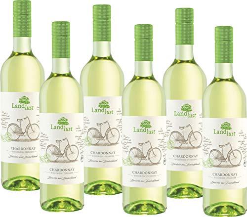 Landlust Chardonnay BIO und VEGAN QbA feinherb (6 x 0.75 l)