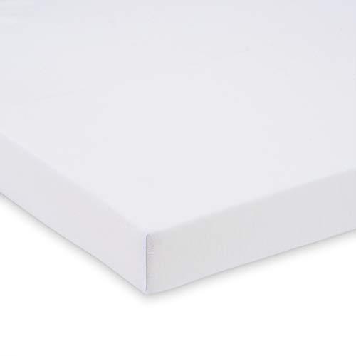 FabiMax 4247 Bio Jersey Spannbettlaken für Beistellbett, 90x55 cm, weiß, weiß