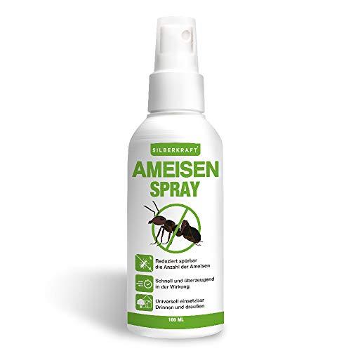 Silberkraft Ameisenspray, zuverlässig Ameisen bekämpfen, Anti- Ameisenmittel, 100{028b9c4aae89b1107868a306e530e9d8af014379ef79adc98e184737b95dc73f} biologisch abbaubar, Sofort- und Langzeitwirkung, Alternative zu Ameisengift & Ameisenköder
