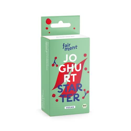 Fairment Joghurtkultur zur Herstellung von veganem Joghurt - Joghurt selber machen - enthält 3 Beutel Joghurtferment für die Herstellung von bis zu 30 Liter Kokosjoghurt, Sojajoghurt usw.