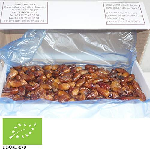 5kg Bio Datteln Deglet Nour ohne Stein | entkernt | basisch | OHNE ZUSÄTZE | VEGAN | fruchtiger, honigsüßer aromatischer Geschmack | STAYUNG