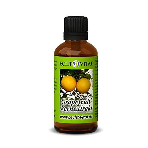 ECHT VITAL Grapefruitkernextrakt | Hochdosiert - Vegan | Grapefruitextrakt aus Kern und Schale | Hergestellt in Deutschland | 1 Flasche mit 50 ml