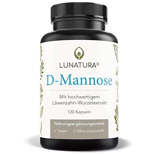 D-Mannose Pulver + Löwenzahnwurzelextrakt | D Mannose aus Birke fermentiert für hohe Bio Verfügbarkeit | gegen Blasenentzündung & Harnwegsinfektionen | Für Frauen und Männer - 120 Kapseln (vegan)