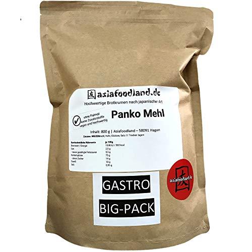 Asiafoodland - Gastro - Groß-Packung - Premium Panko - Paniermehl - ohne Palmöl, ohne Zusatzstoffe, vegan - Panierbrot - Brotkrumen nach japanischer Art, 1er Pack (1 x 800g)