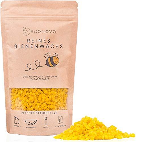 Econovo® 100{49dbd5ca1f26d82a57e345febb3bfb391862a43cf4f14cd3f2ad851a1d5ec065} natürliches Bienenwachs ohne Zusätze - 200g gelbe Bienenwachs Pastillen vom Imker für Kosmetik, Bienenwachstücher, Kerzen, Holz- und Lederpflege (inkl. E-Book mit Rezepten)