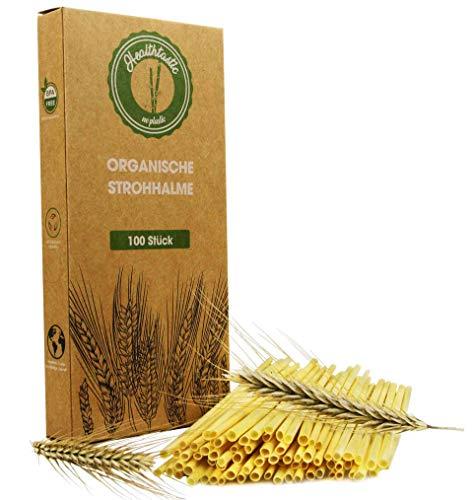 Healthtastic ® Kompostierbare Einweg Strohhalme aus Stroh 100 STÜCK - Umweltfreundliche Bio Trink Halme 100{25868a4de85ac4565910b2fdc395b610b87f0d83c363067dc83a70c194f325dd} biologisch abbaubar