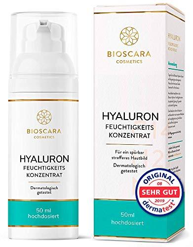NEU: Hyaluron Serum extra hochdosiert 50ml vegan - Anti Falten Effekt Hyaloronsäure Serum und Hyaluron Gel - Anti-Aging Creme für ein sichtbar strafferes Hautbild made in Germany