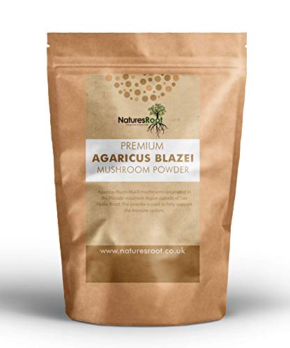 Nature's Root Premium Agaricus Blazei Powder 100g - Mushroom Powder | Natural & Vegan | Nutritious Superfood | Immune System Booster …
